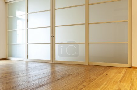 Photo for Interior empty house with wooden floor - Royalty Free Image