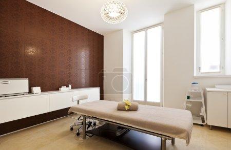 Massage room in a spa salon