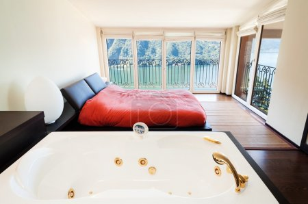 Luxury  bedroom with jacuzzi