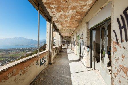 Corridor with windows