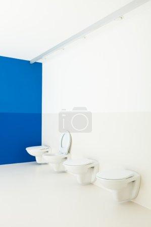 Public bathroom, toilets