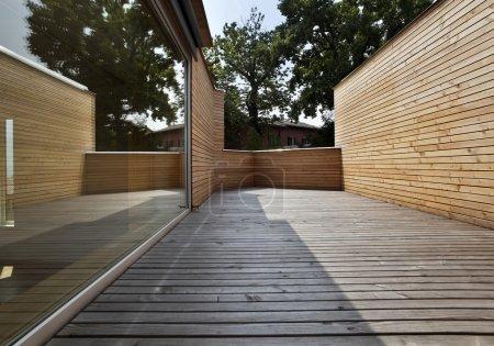 Ecologic house, terrace