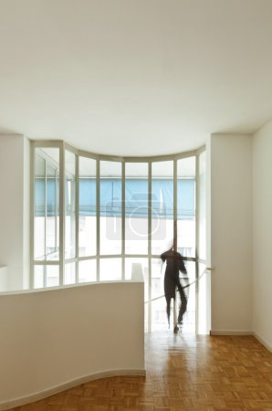Wide room with large window