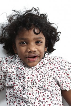 Portrait of little Indian girl