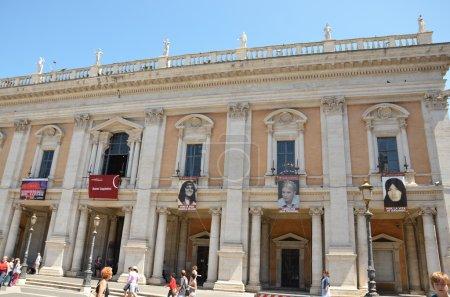 Timoshenko portrait on Capitoline Museum building, Piazza del Campidoglio, Rome, Italy