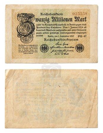 Old German banknotes