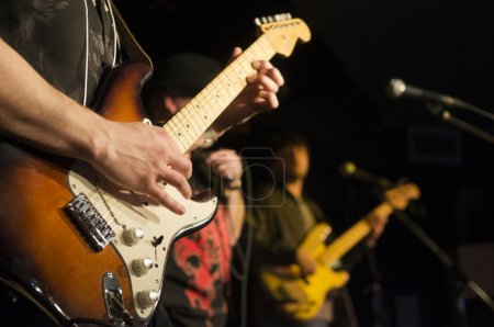 Guitarist at a Festival