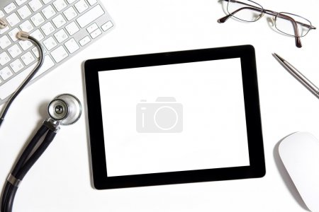 tablet on the table of doctor