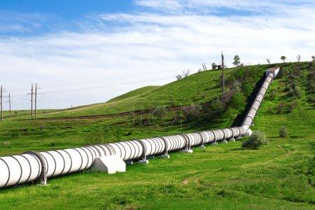 Photo pour Tuyau industriel avec gaz et pétrole - image libre de droit