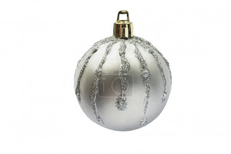 Silver christmass ball with streaks