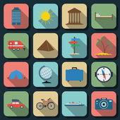 Travel flat vector icons