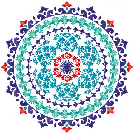 Illustration for Circular patterns and ornaments oriental (eastern style) - Royalty Free Image