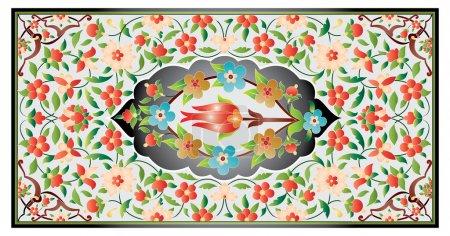 Ottoman art of illumination colorful