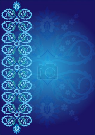 blue ottoman serial patterns six