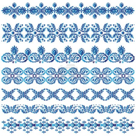 blue ottoman serial patterns three
