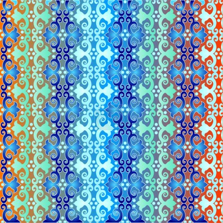 seamless pattern islamic style blue version one