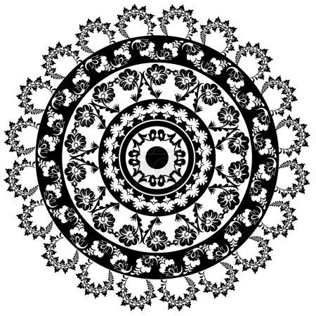 turkish black and white design circle