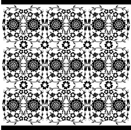 black and white ottoman serial patterns twenty-six