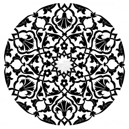 black oriental ottoman design twenty-four