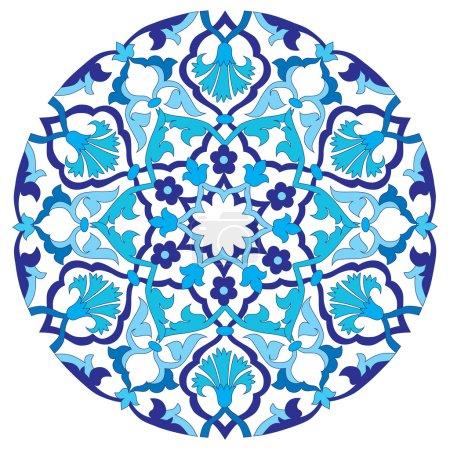 blue oriental ottoman design twenty-four