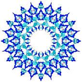 blue oriental ottoman design twenty-six