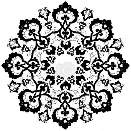 black oriental ottoman design thirty-three