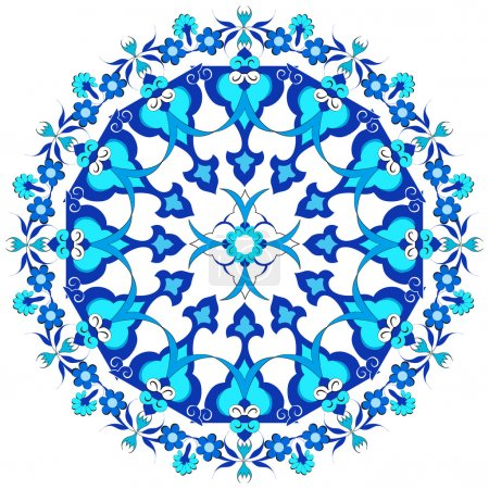 blue oriental ottoman design twenty-eight