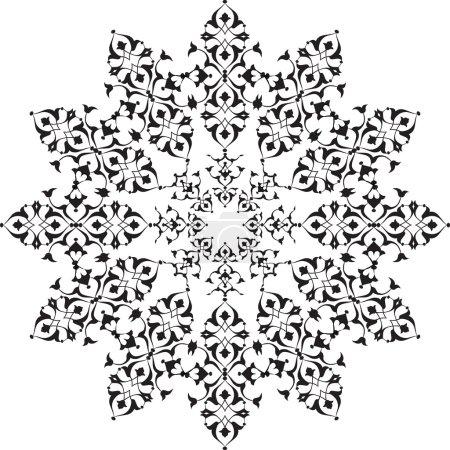 black oriental ottoman design thirty-five