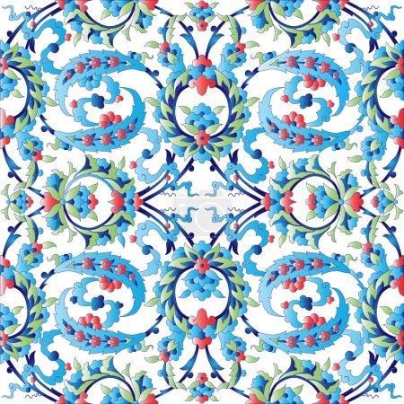 blue oriental ottoman design forty