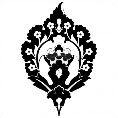 black oriental ottoman design forty six