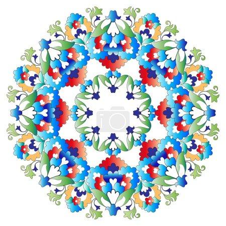 Ottoman motifs design series with five version