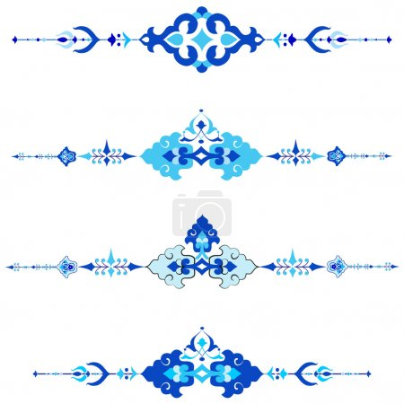 Ottoman motifs design series with thirty version