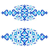Ottoman motifs blue design series of fifty three