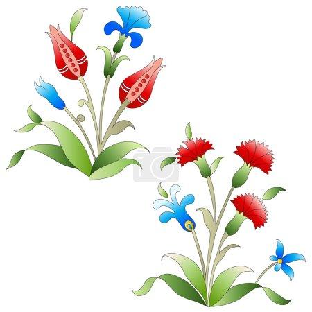Ottoman art flowers nineteen