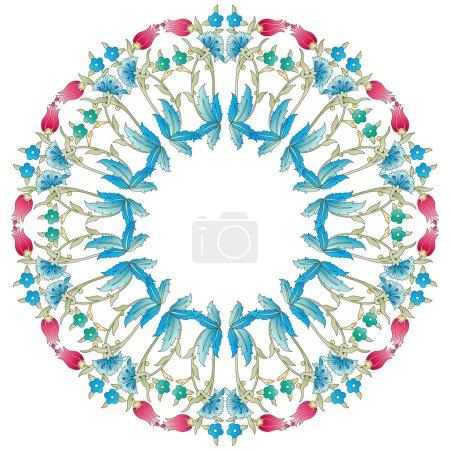 Ottoman motifs blue design series of fifty six