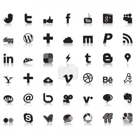 Social network icons...