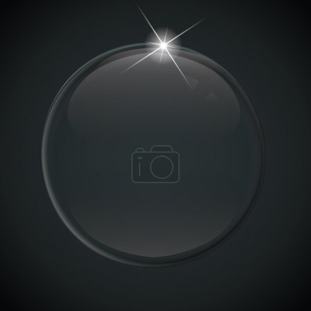 black soap bubble on background