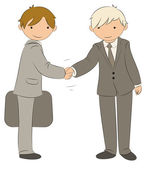 Handshake Business Illustration