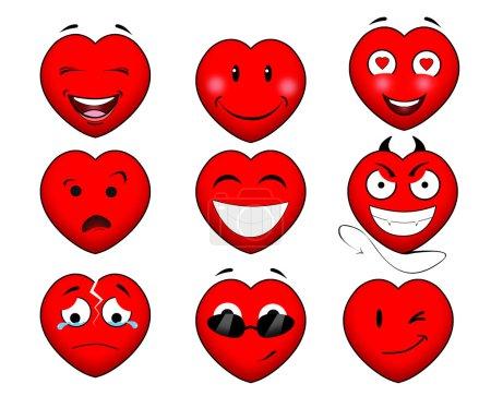 Heart smile set