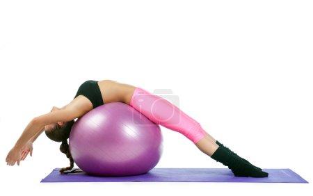 woman making bridge exercise