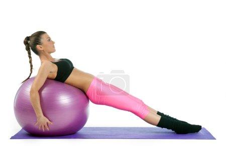 woman pilates exercise