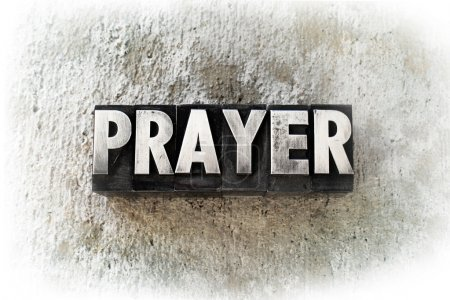 """Photo for The word """"PRAYER"""" written in old vintage letterpress type. - Royalty Free Image"""