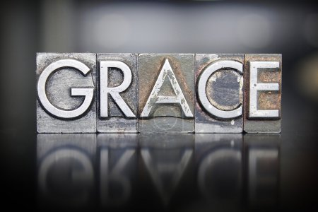 Photo for The word GRACE written in vintage letterpress lead type - Royalty Free Image