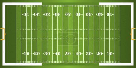 Textured Grass American Football Field