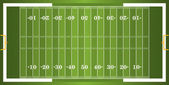 A vector grass textured American football field EPS 10 File contains transparencies