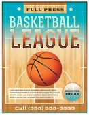 A basketball league flyer or poster perfect for basketball announcements games leagues camps and more Vector EPS 10 File is layered for easy separation of text from the background