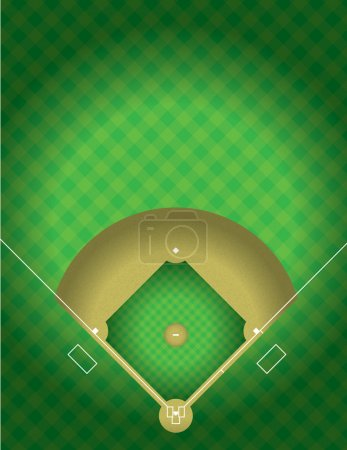 Vector Baseball Field