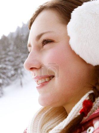 Woman holding her earwarmers
