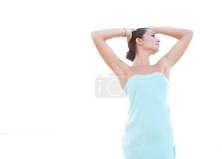 Beautiful woman standing