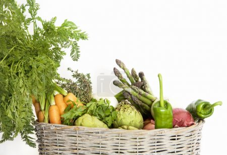 Variety of organic vegetables